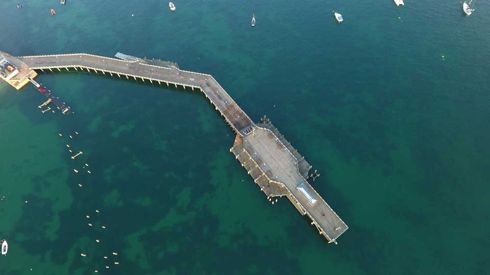 aerial photography pier