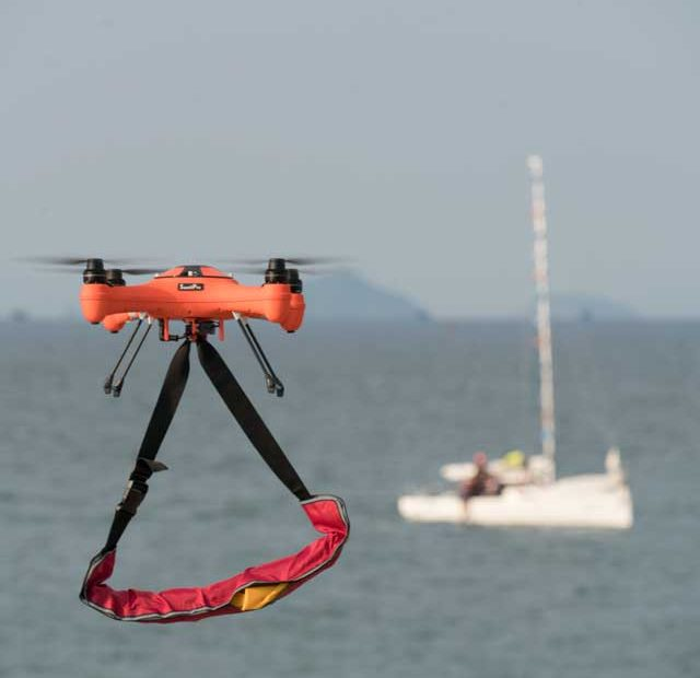 search and rescue with a drone
